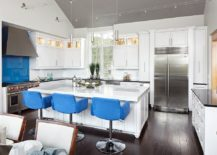 Transitional-kitchen-in-white-with-comfy-bar-stools-in-blue-217x155