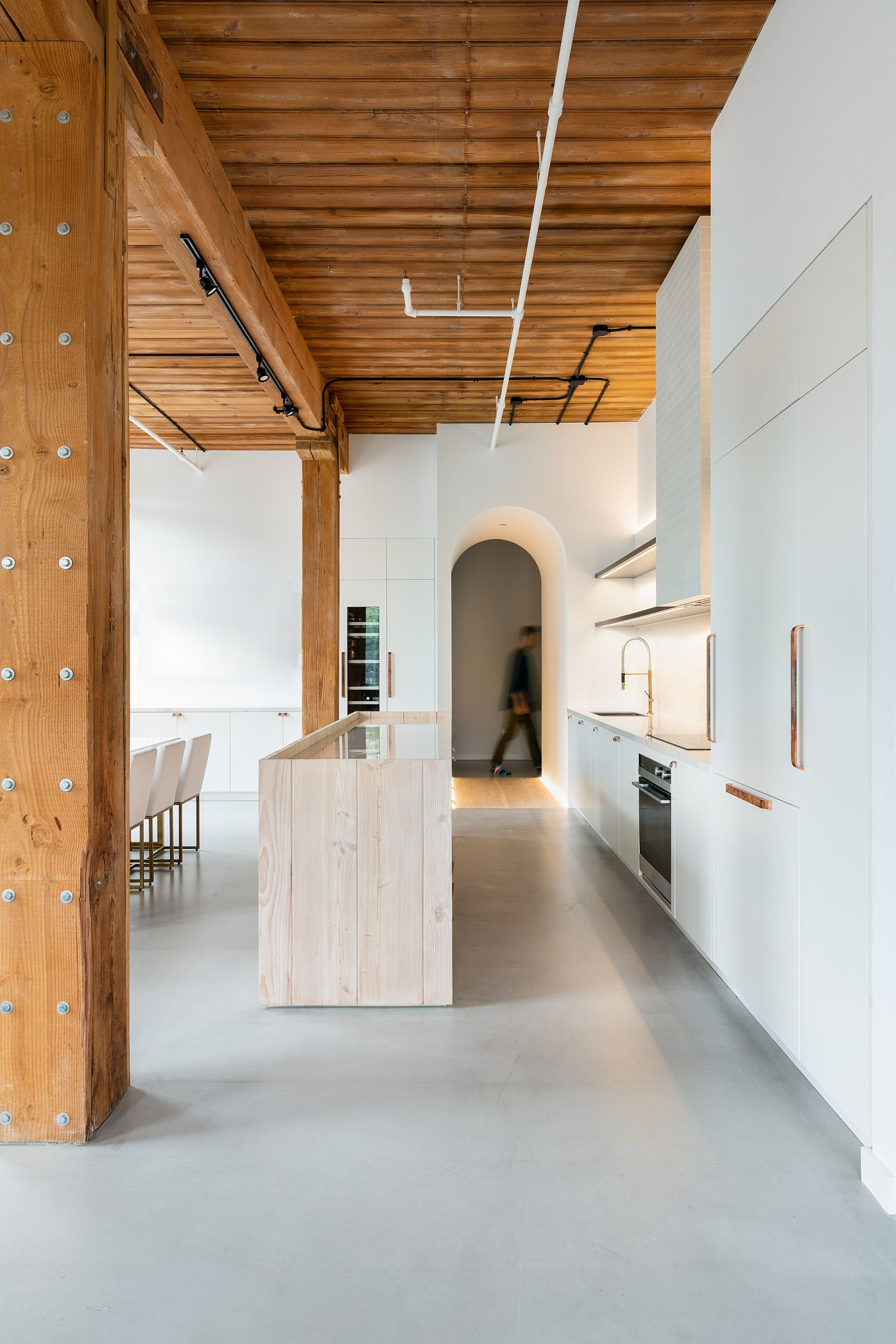 Douglas Fir and Cozy Lighting Shape Sensationally Refined Downtown Loft in Toronto