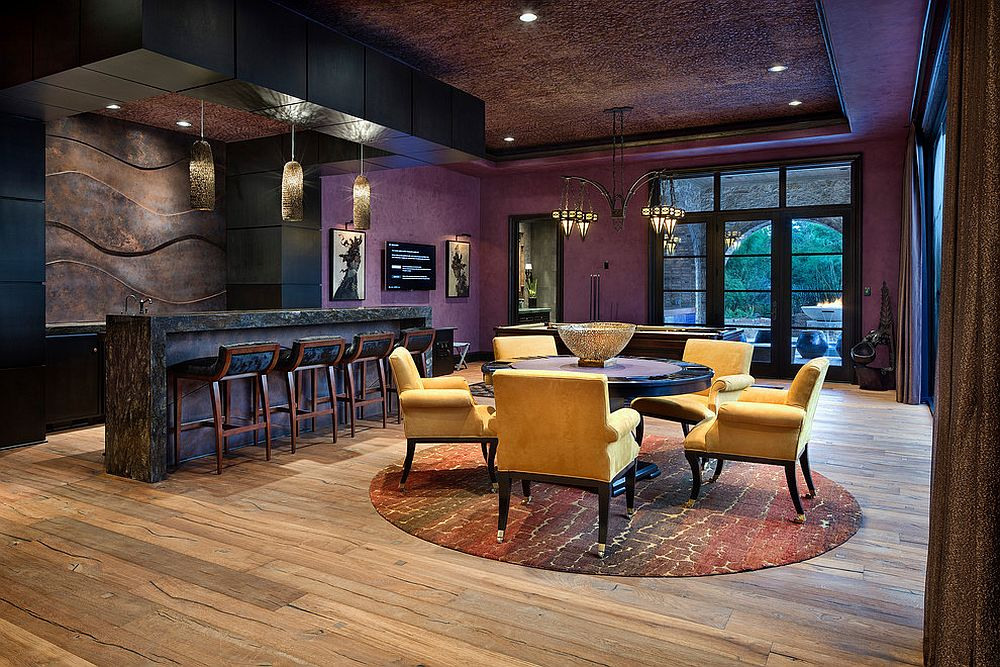 Amazing-home-bar-in-purple-and-black-brings-Moroccan-eclectic-style-alive