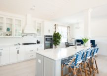 Bar-chairs-bring-pattern-to-the-all-white-kitchen-with-relaxing-beach-style-217x155
