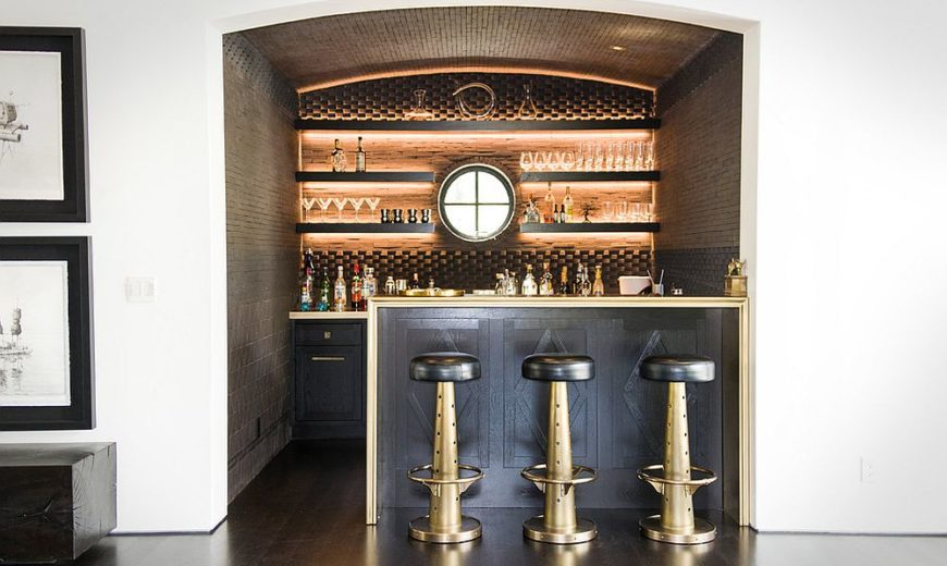 Magically Timeless: Mediterranean Home Bars that Wow with Splendor