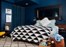 Refined New Twist Trendy And Dashing Interiors In Blue And Black