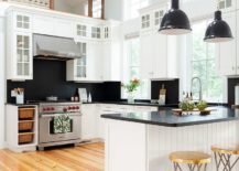 Black-and-white-kitchen-with-smart-modern-beach-style-217x155