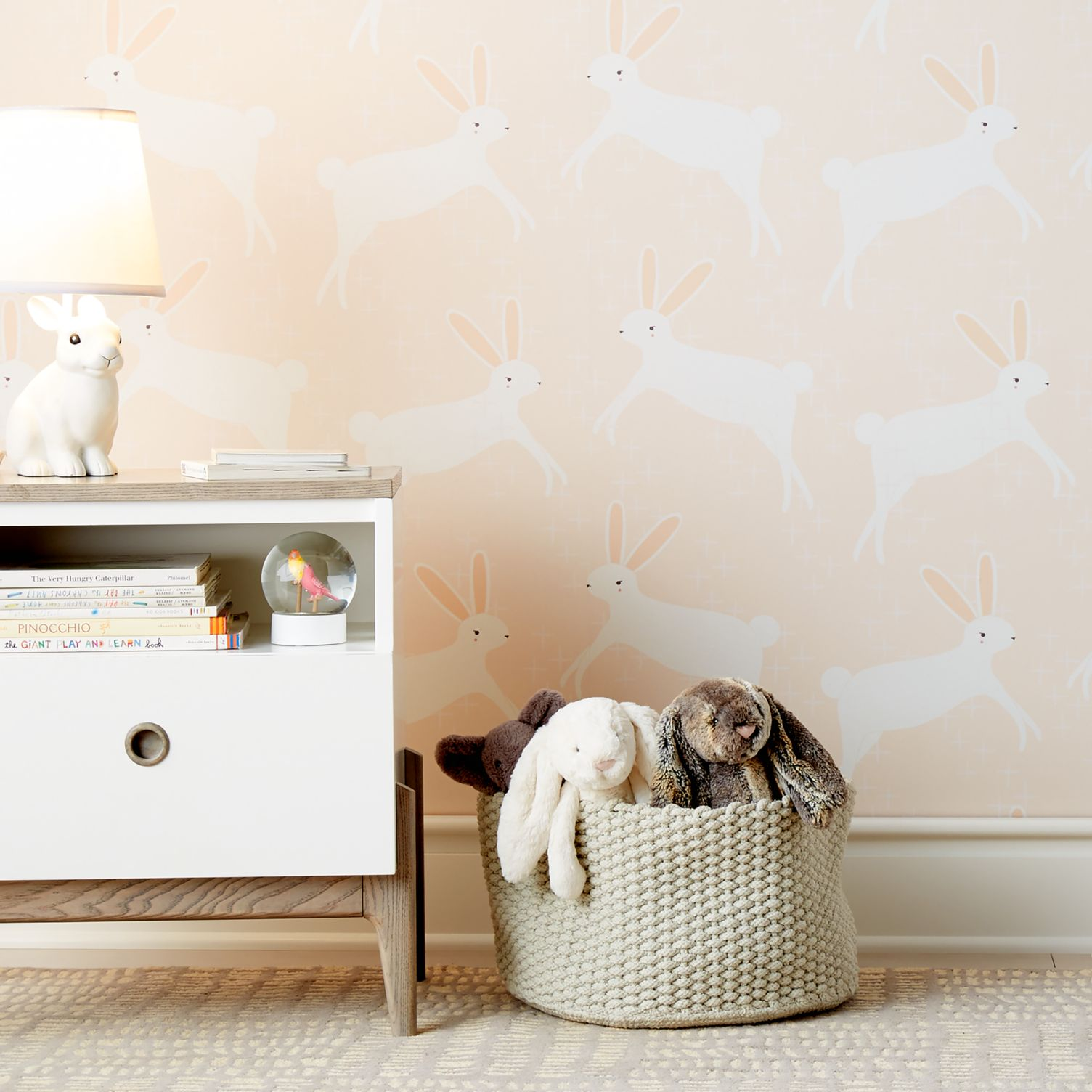 Bunny wallpaper from Crate & Kids