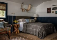 Cozy-rustic-chic-bedroom-in-white-and-blue-217x155