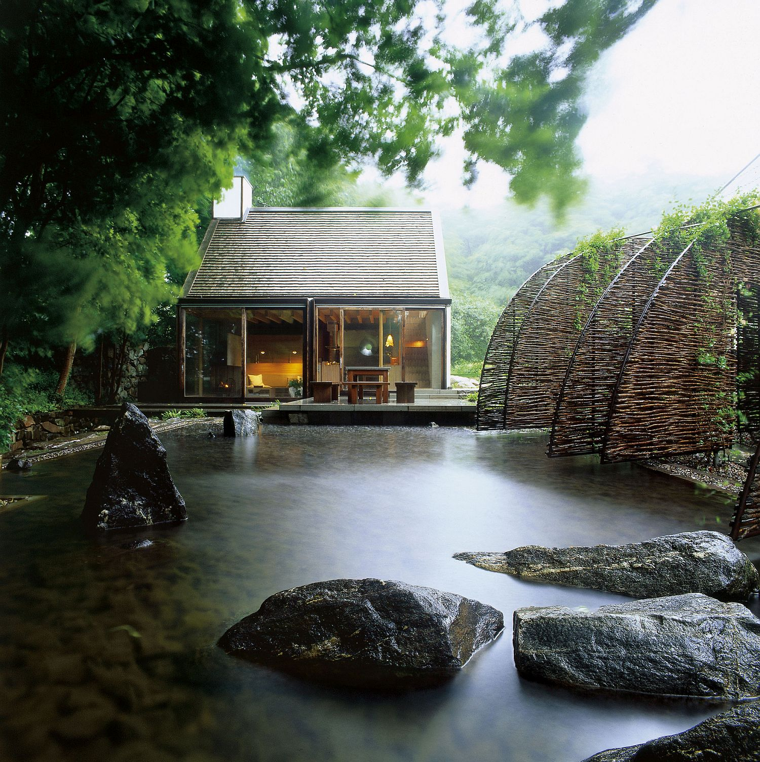 Creek and natural water body around the house enhances its amazing aura