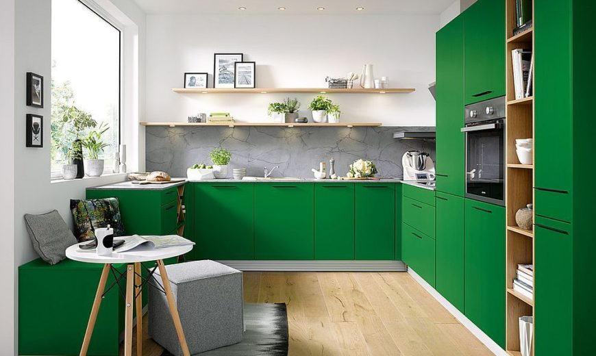 Modern Color Splash: Gorgeously Green Kitchen Cabinets that Usher in Warmer Months