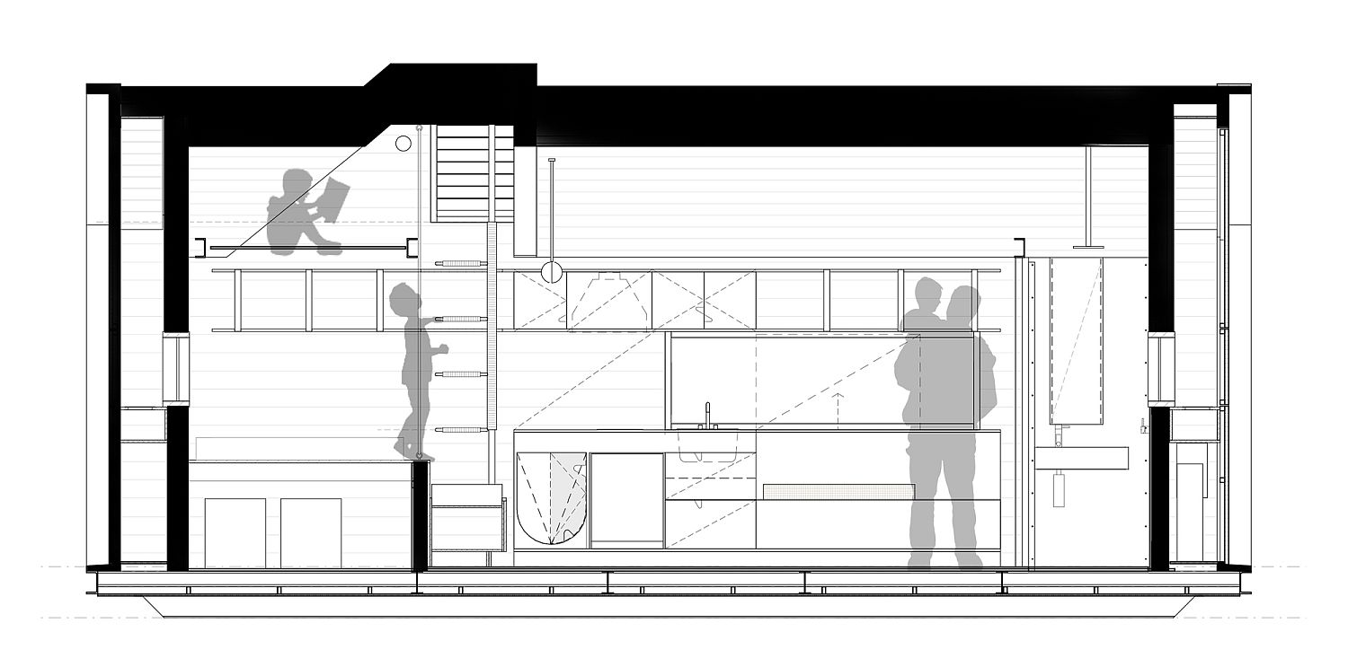 Elevation and design plan of tiny home