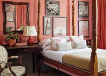 Exquisite-Living-Coral-accent-wall-for-bedroom-along-with-matching-drapes-217x155