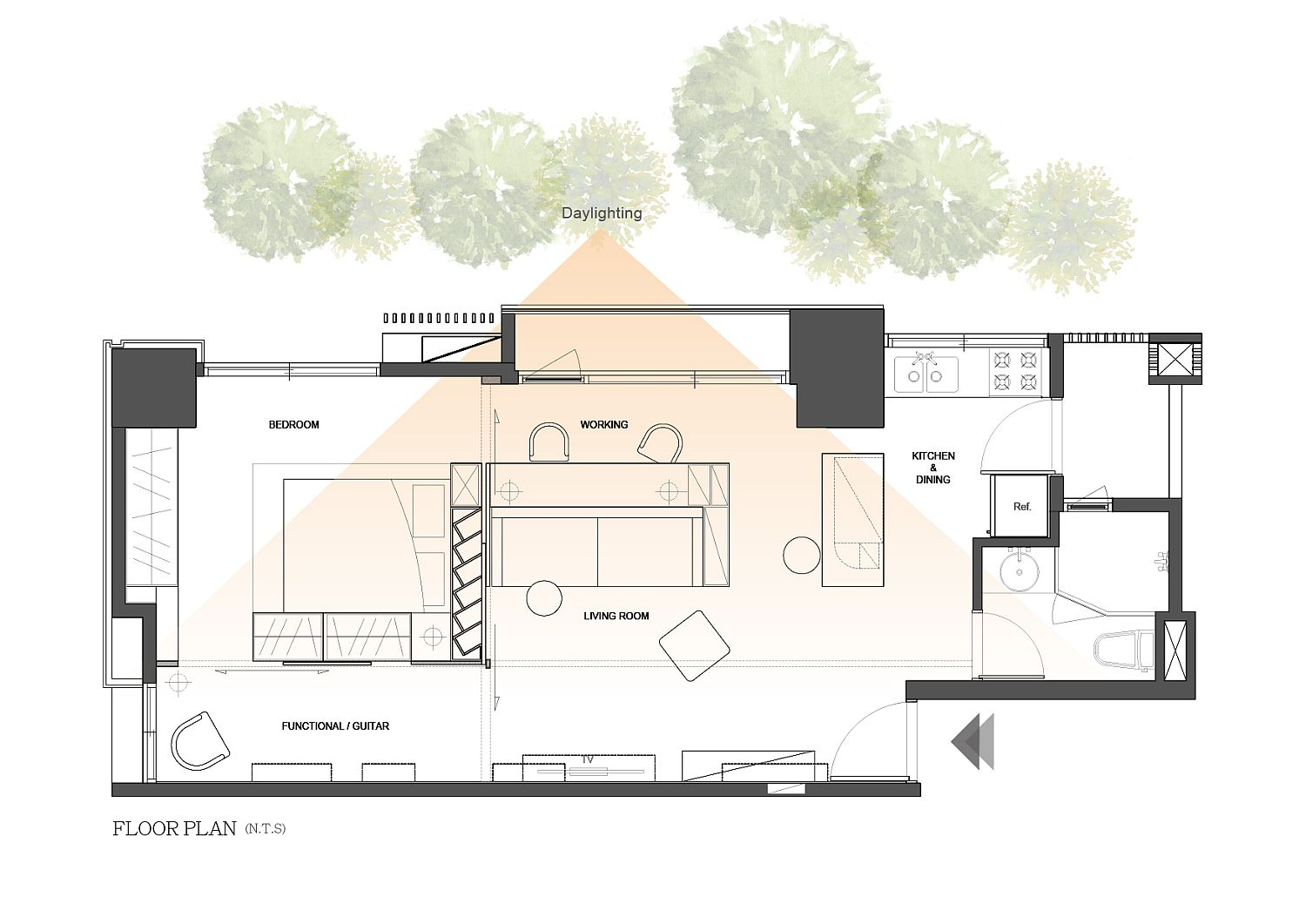 Floor-plan-of-contemporary-home-in-Taiwan-inspired-by-classic-Eichler-homes