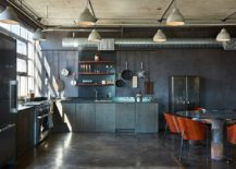 Industrial-style-kitchen-with-a-display-of-pots-and-pans-217x155