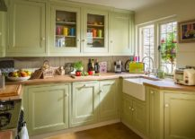 Kitchen-brings-natural-light-into-the-small-farmhouse-kitchen-in-pastel-green-217x155
