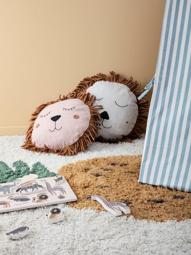 Lion pillows from ferm LIVING