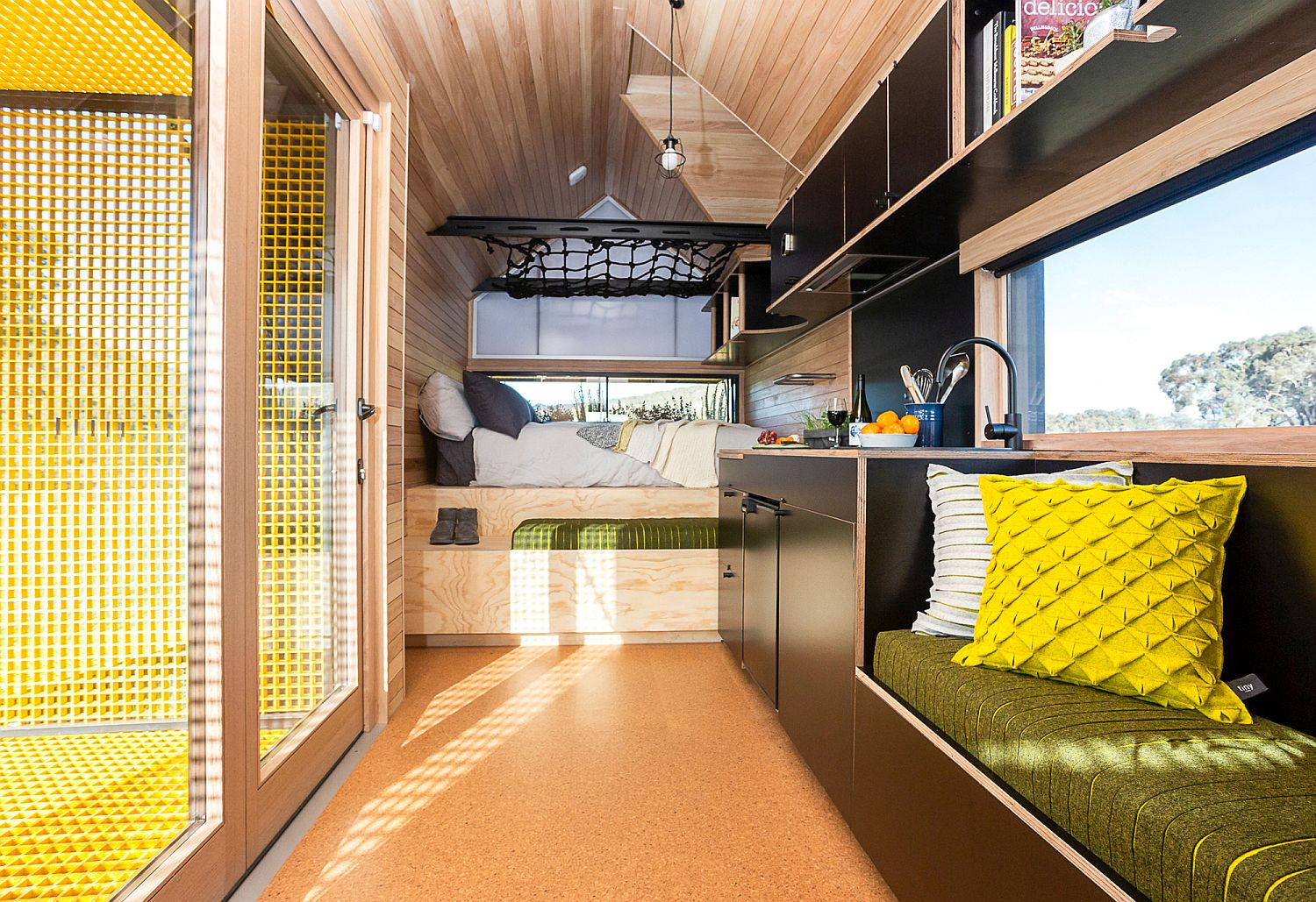 Making most of the limited space inside the tiny cabin using smart floor plan