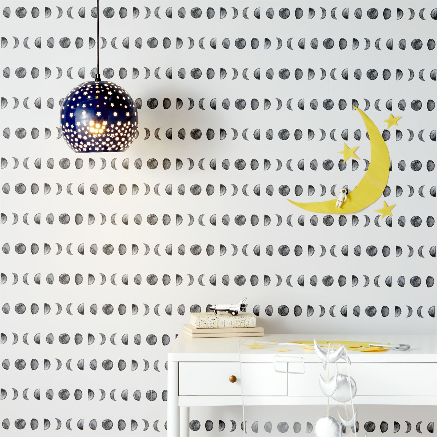 Moon removable wallpaper from Crate & Barrel