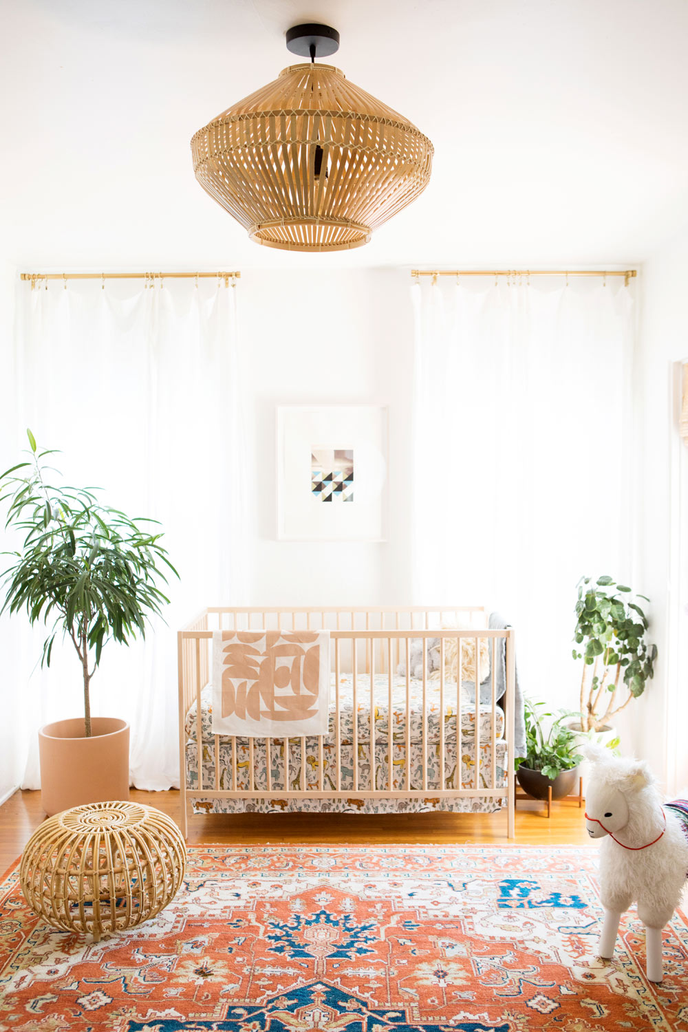 Nursery filled with natural materials