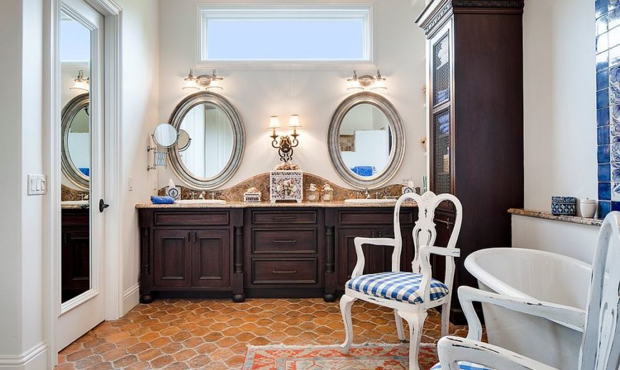 Warm and Cozy Trend: Best Bathrooms with Timeless Terracotta Tiles
