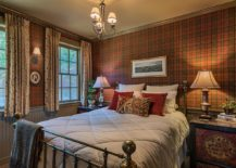 Plaid-clad-walls-are-a-unique-addition-to-the-rustic-modern-bedroom-217x155