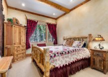 Plaid-drapes-for-the-modern-rustic-bedroom-with-textured-walls-217x155