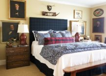 Plaid-vintage-photographs-and-woodsy-decor-for-the-modern-rustic-bedroom-in-light-yellow-217x155