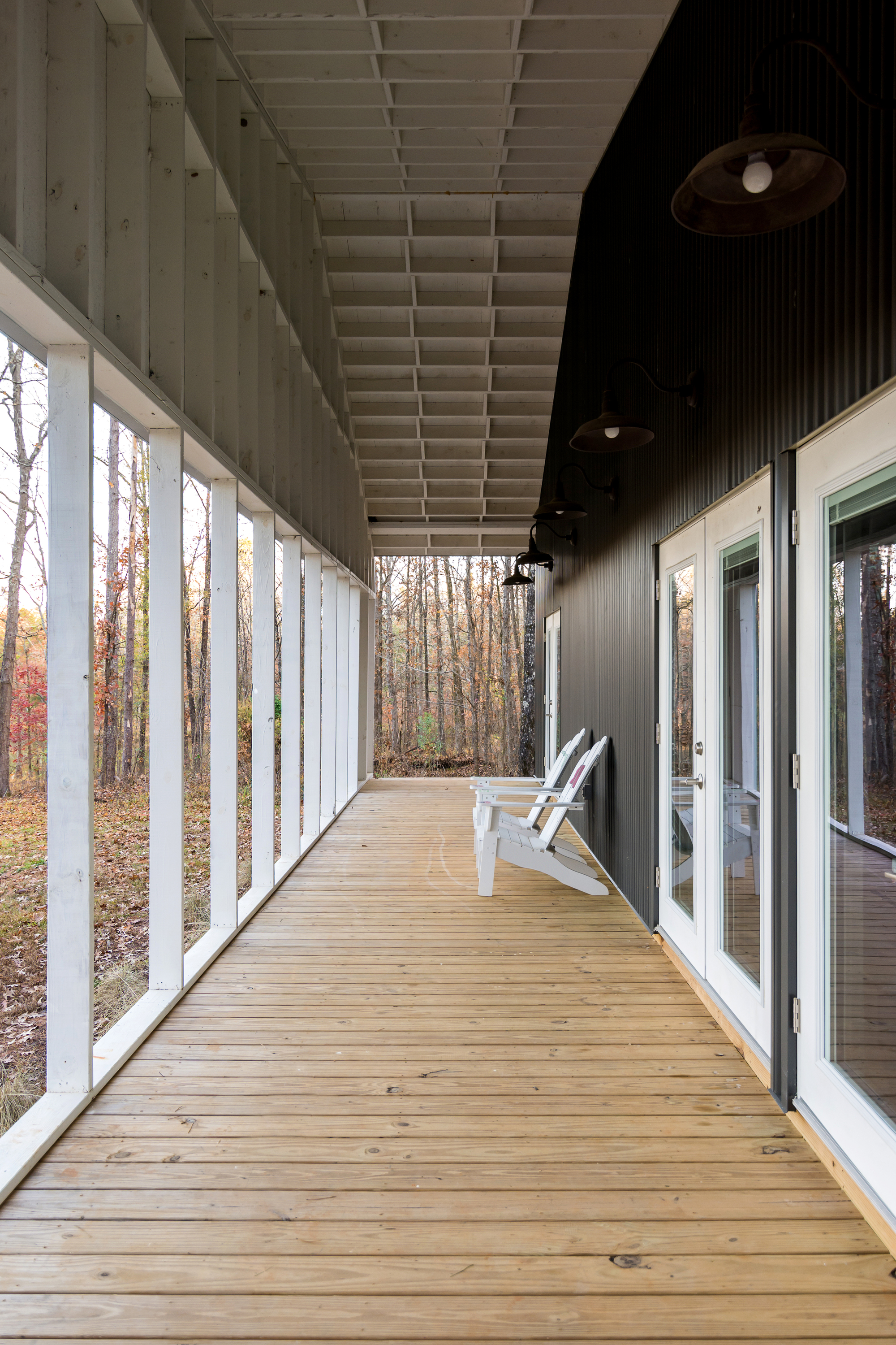 Porch around the house offers ample sitting space for everyone