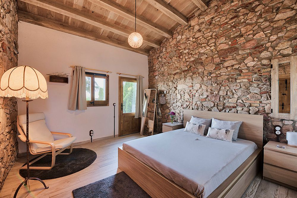 rustic bedroom green walls | 30 Rustic Chic Bedrooms with Affordable Cozy Modernity ...