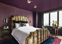 Striking-bedroom-where-the-ceiling-is-also-purple-217x155