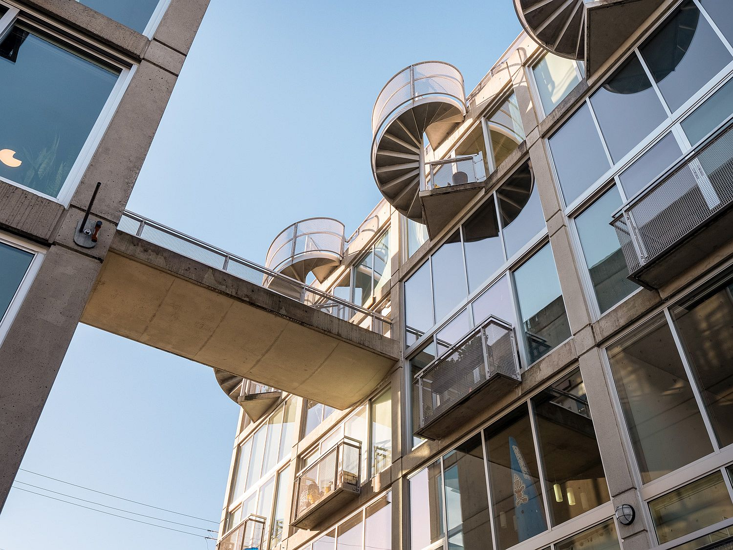 Stylish lofts and apartments sit snugly inside the iconic Waterfall Building