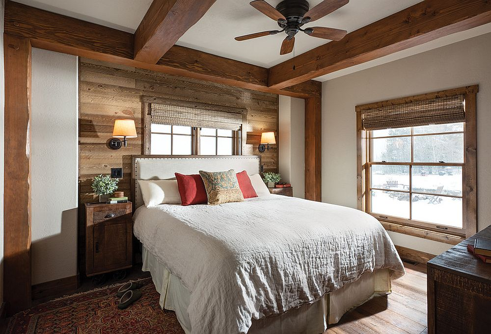 Timber is an element you cannot ignore in the rustic bedroom despite modern finishes