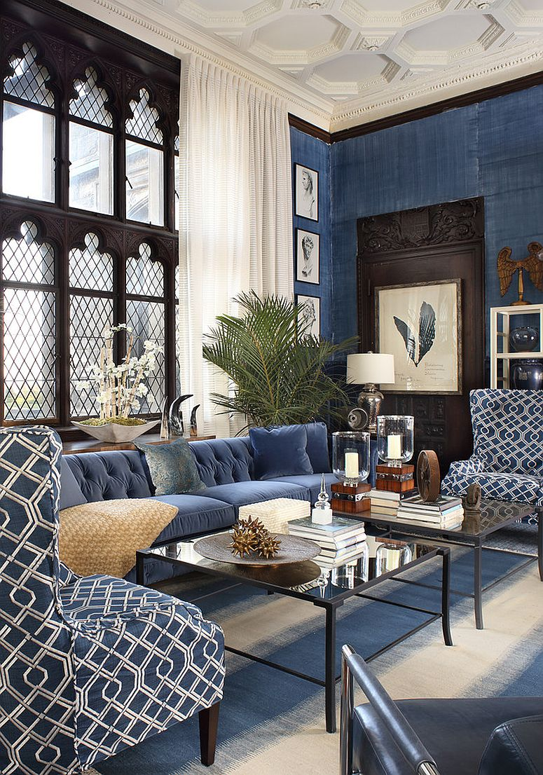 Refined New Twist: Trendy and Dashing Interiors in Blue and Black