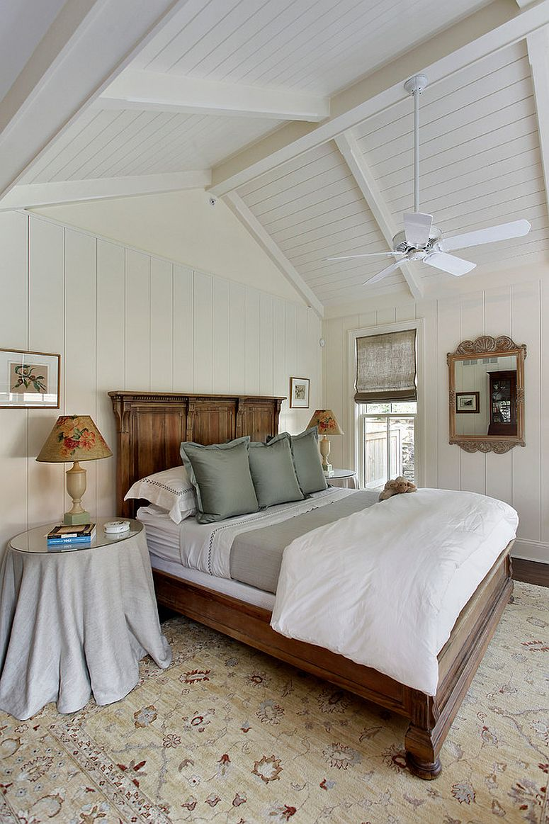 Turn to a cozy rustic style for a more beautiful white and wood bedroom