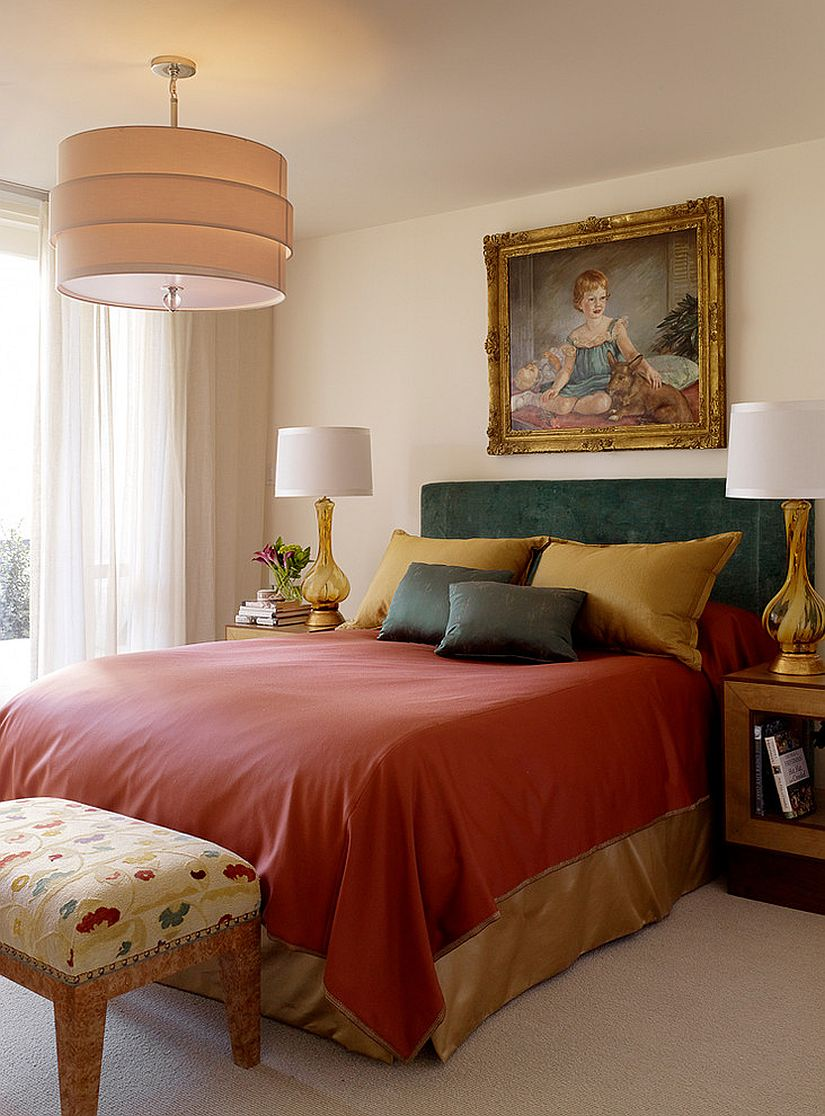 Use bedding to usher jewel tones into the bedroom this season
