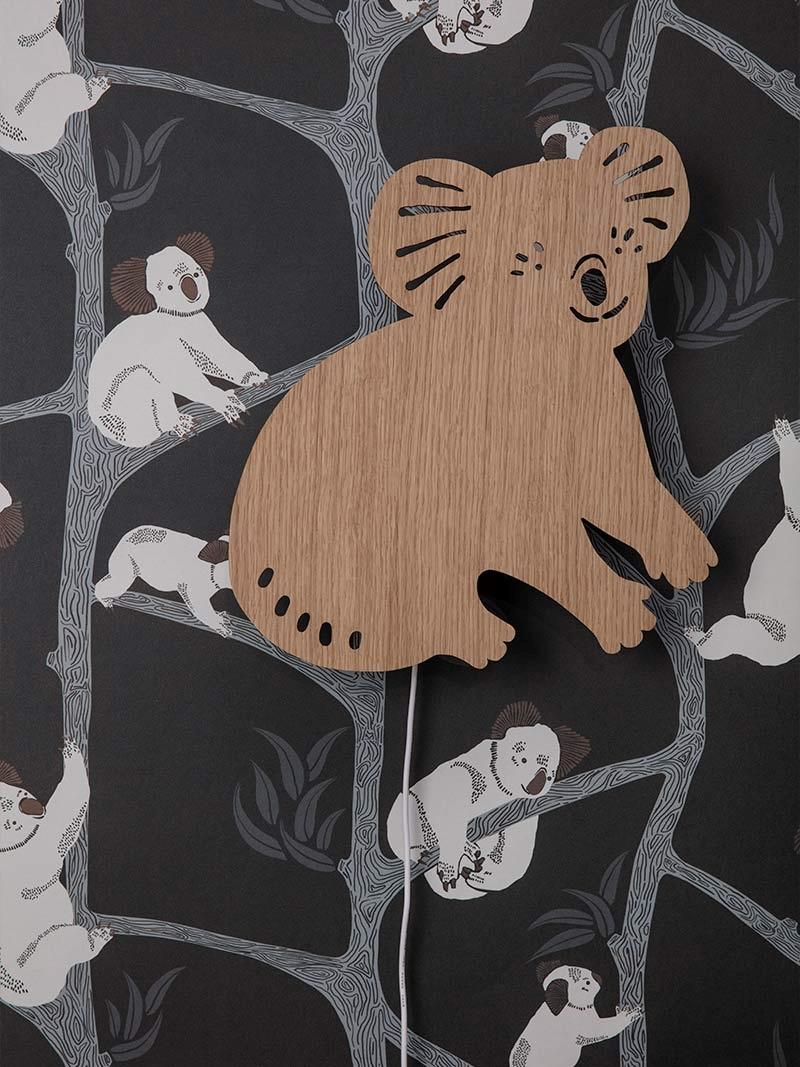 Wooden koala lamp from ferm LIVING