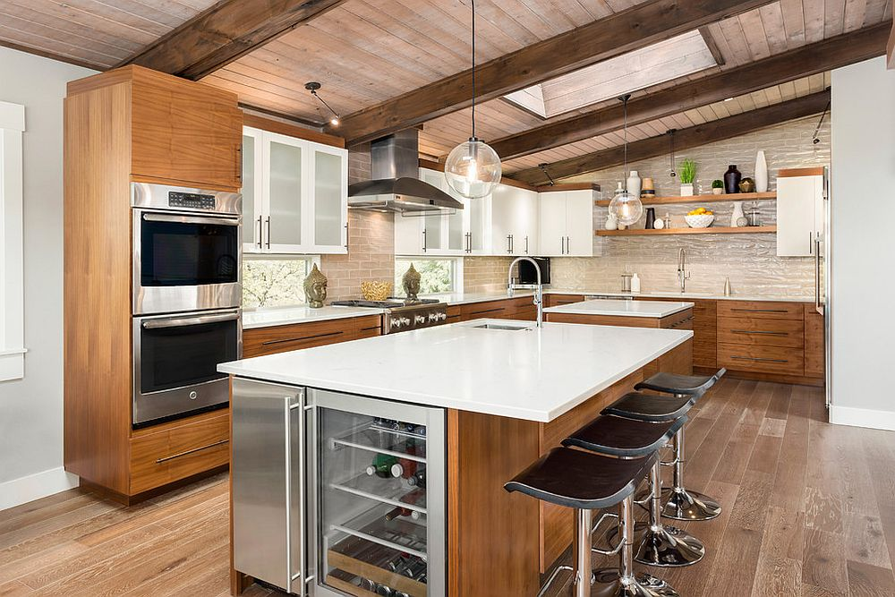 Kitchens With Wooden Ceiling Adding Warmth And Elegance In Style
