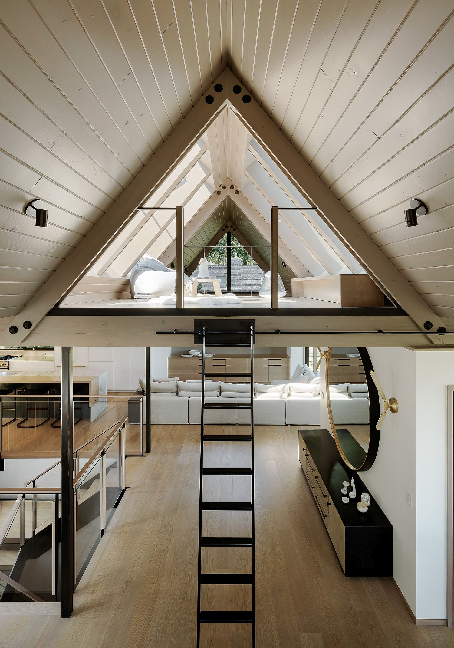 Attic sitting and recreational area of the house
