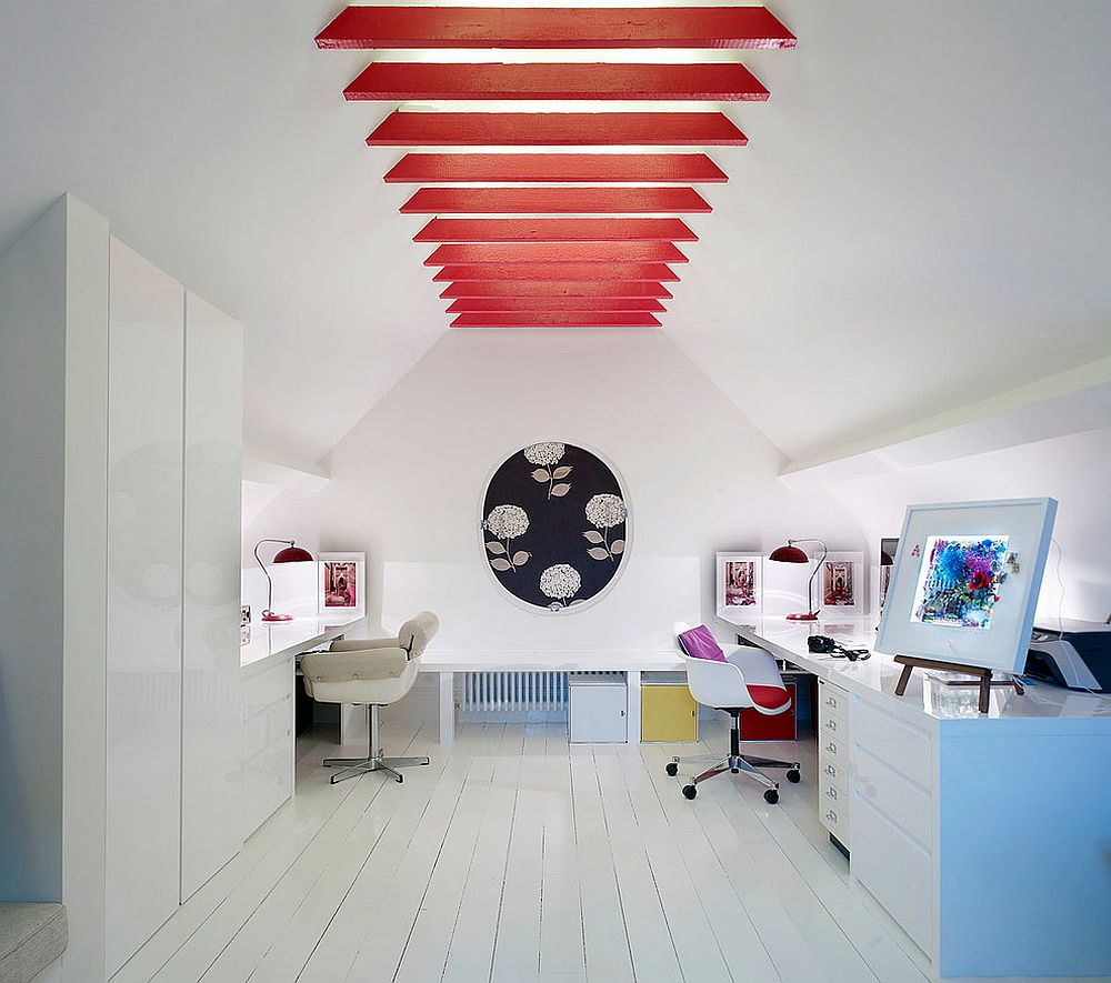 20 Trendy Ideas For A Home Office With Skylights: Trendy Ideas: 20 Home Offices With Ceiling Beams That Make