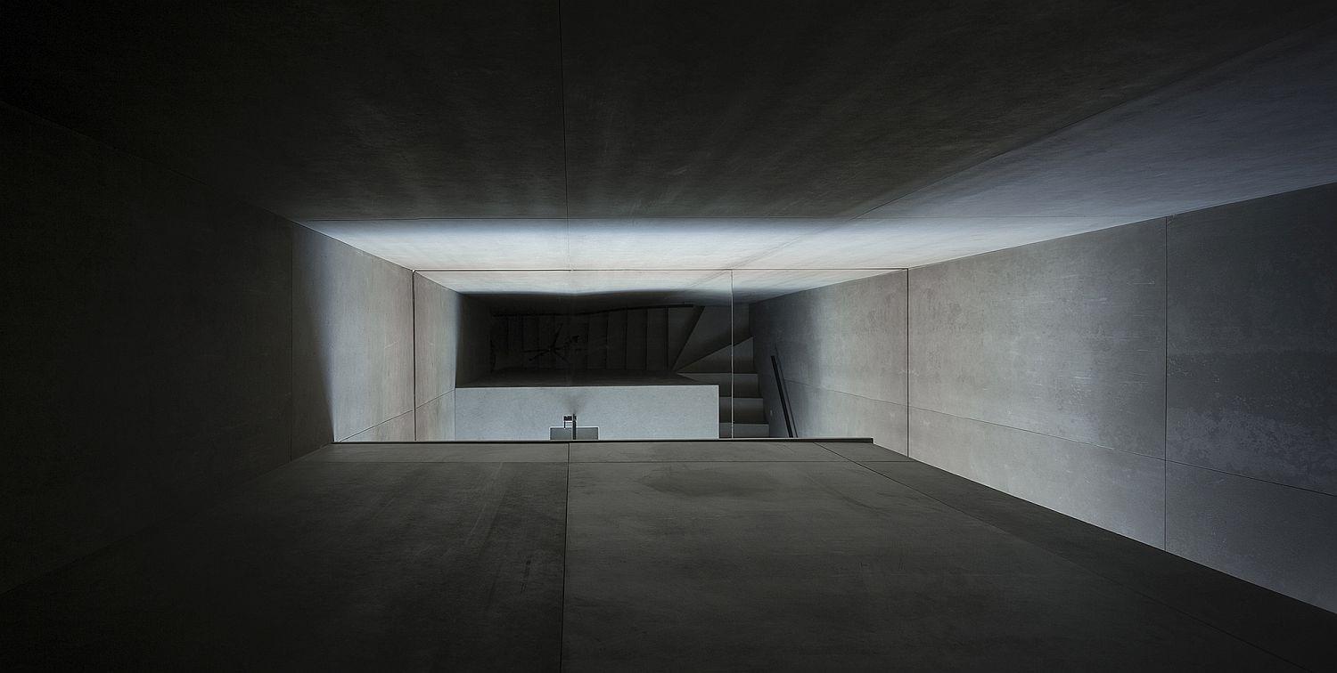 Central stairwell brings light into the various levels of the house