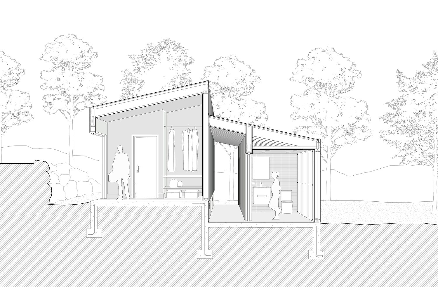 Design-plan-of-the-small-pavilion-in-woods