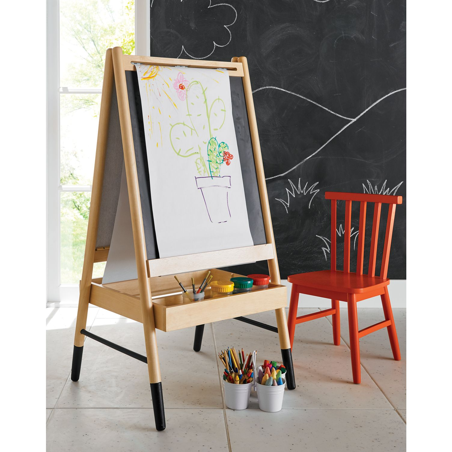 Easel for the playroom