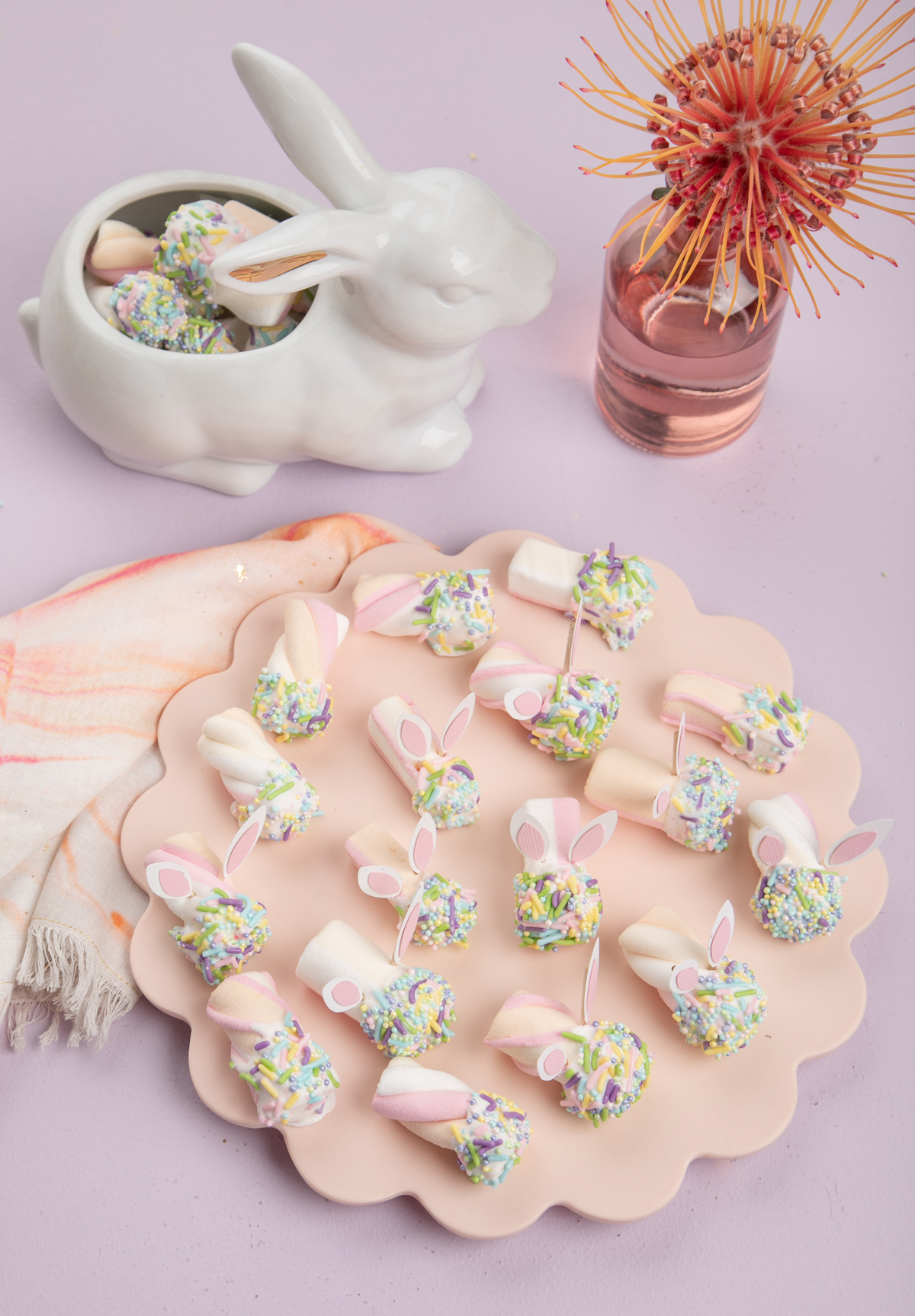 Easter bunny marshmallows from Oh Joy