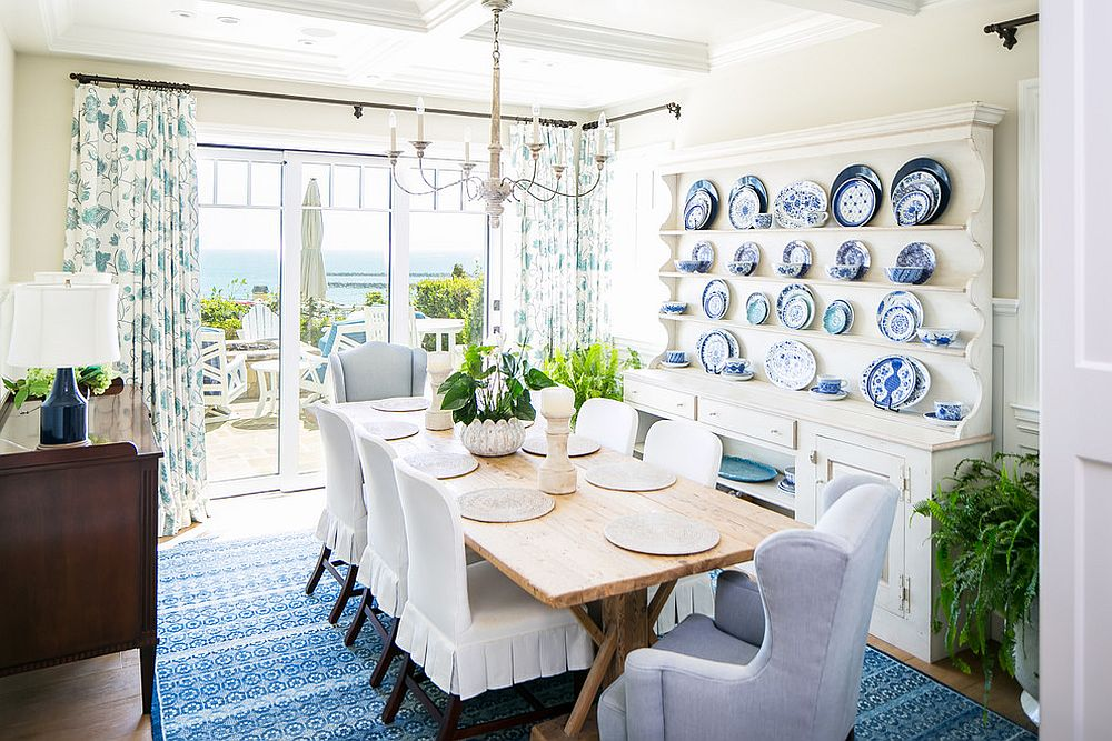 Every beach style dining room requires the right amount of natural light