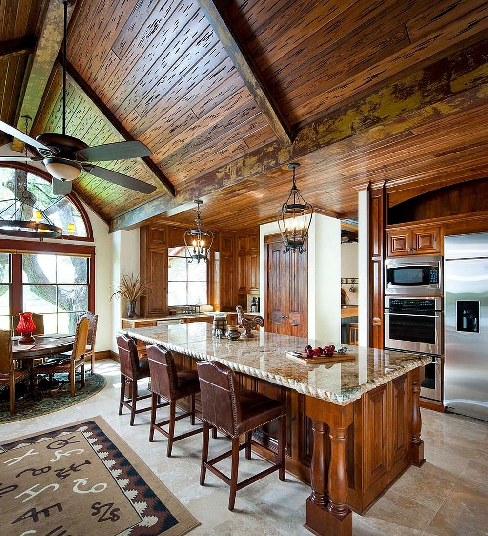 Kitchens With Wooden Ceiling: Adding Warmth And Elegance