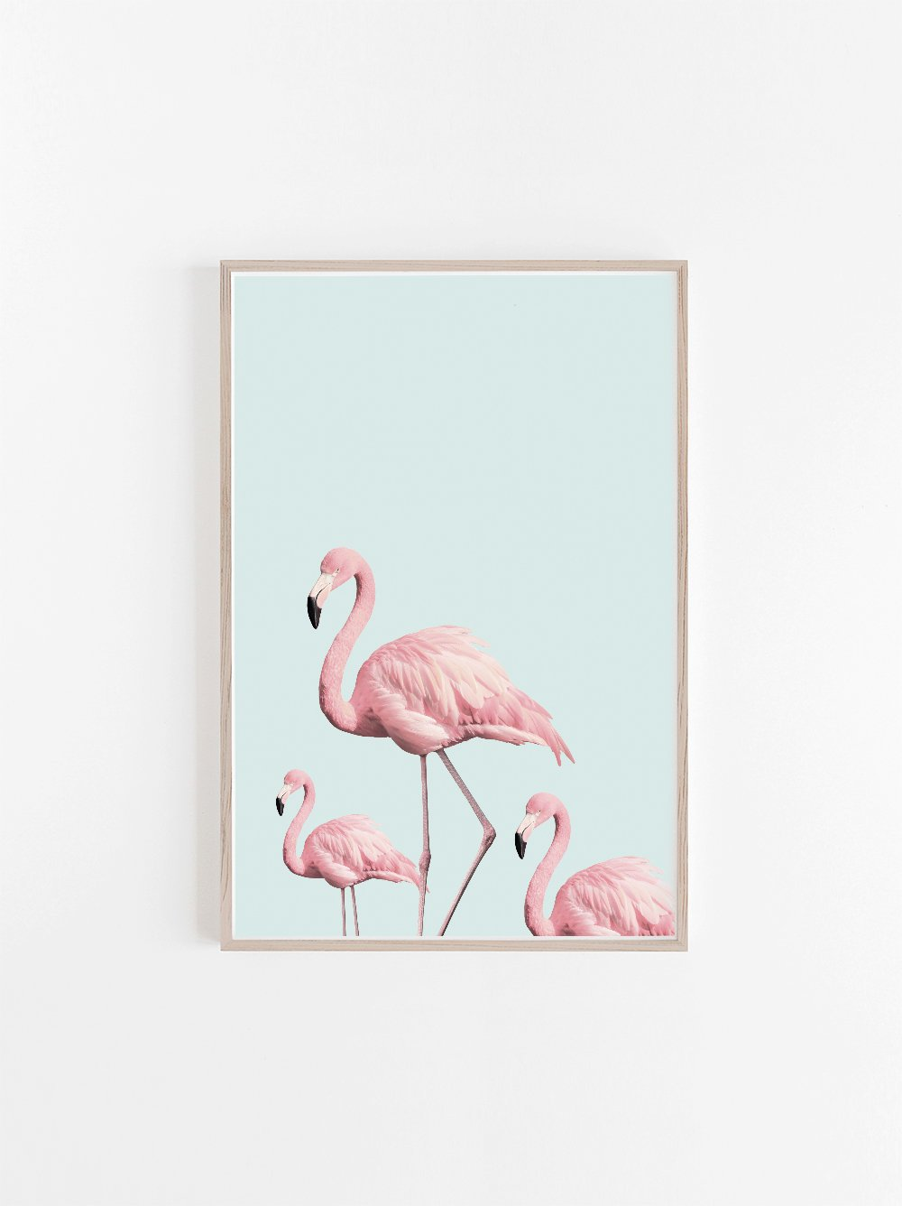 Flamingo wall art for the playroom