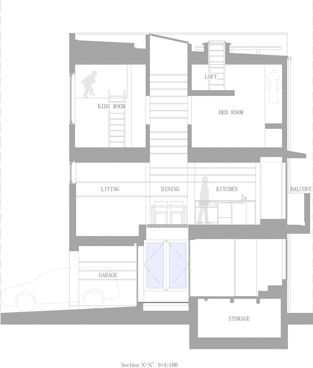 Floor plan of House in Nada