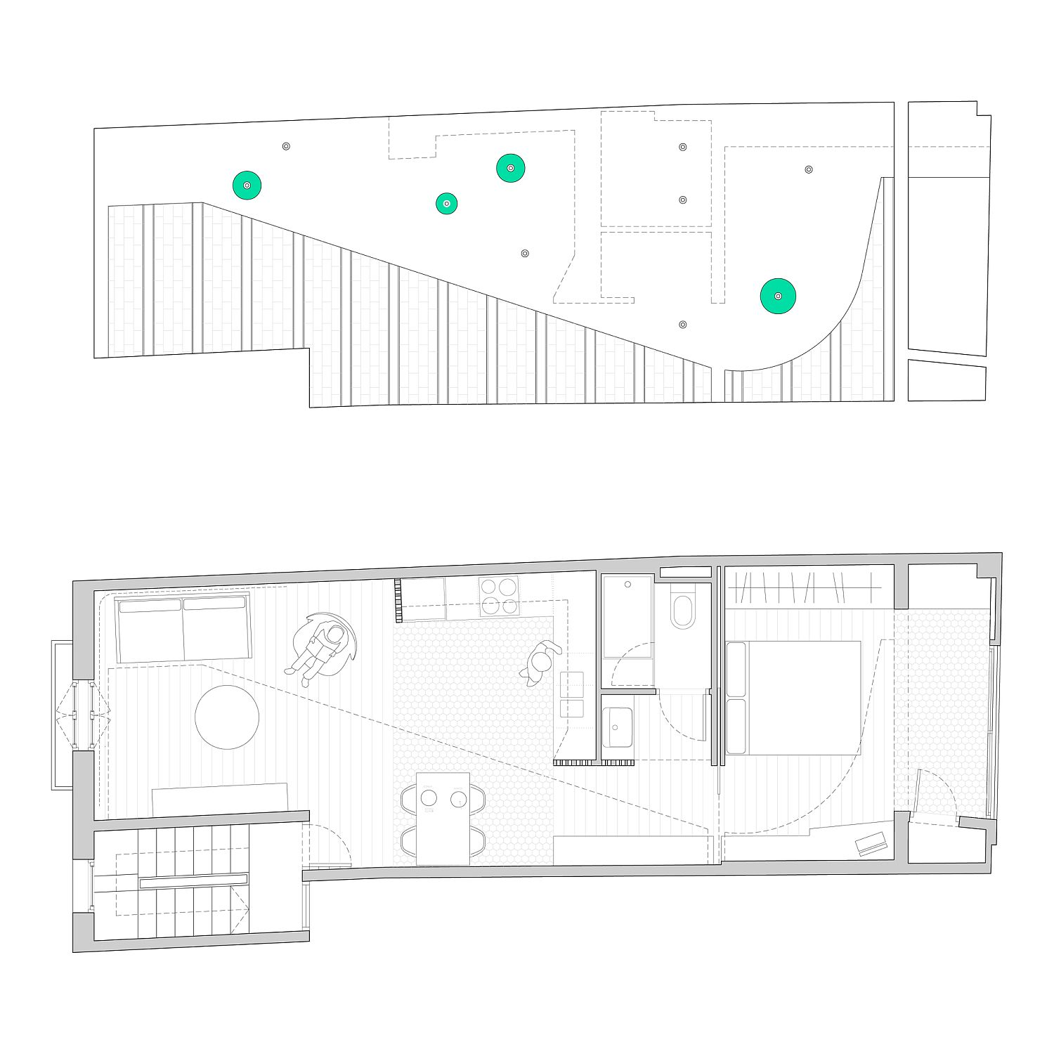 Floor plan of Laia House in Barcelona