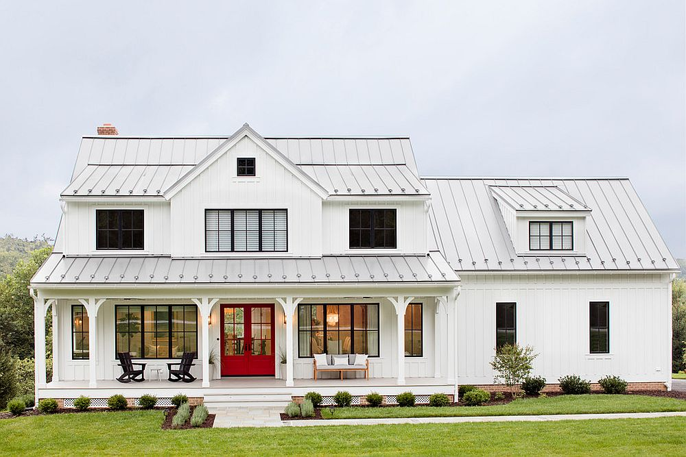 Gorgeous-all-white-exterior-of-the-farmhouse-residence-with-a-touch-of-gray