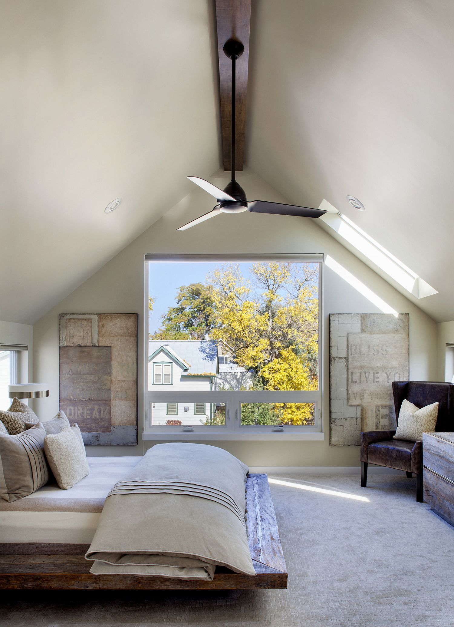 Gorgeous master bedroom with a view to match the interior!