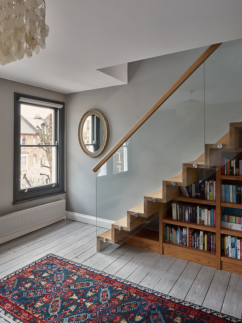 Home library under the staircase for the bibliophile