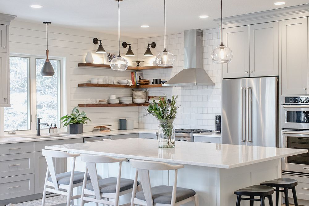 25 Best White Kitchens with Space-Saving Style – Ideas ...