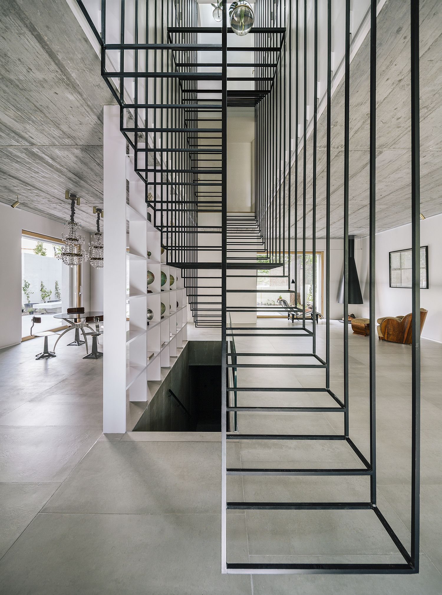 Minimal and audacious structure in glass and metal steals the show here